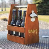 Cathy's Concepts Cathys concepts Dad's Brew Wooden Beer Carrier