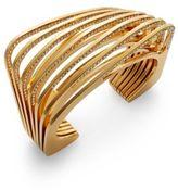 Vita Fede Futturo Pav? Crystal Cut Bracelet/Goldtone