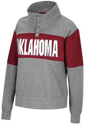 Top of the World Women Oklahoma Sooners Colorblock Half-Snap Sweatshirt