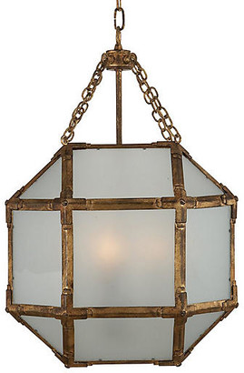 Visual Comfort & Co. Morris Lantern - Antiqued Gold/Frosted