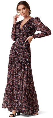 Forever New Agnes Ruched Wrap Maxi Dress