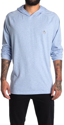 Original Penguin Long Sleeve Hooded T-Shirt