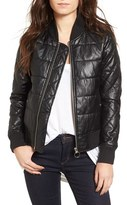 Vigoss Women's Quilted Faux Leather Bomber