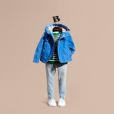 Burberry Hooded Field Jacket , Size: 6y, Blue