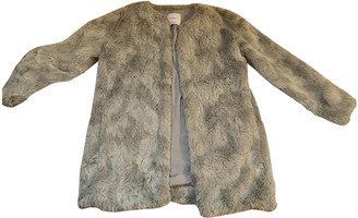 MANGO Grey Faux fur Coats