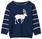 Gant Navy Reindeer Intarsia Knit Jumper