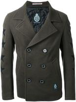 GUILD PRIME stars motif double-breasted coat - men - Polyester/Wool - 2