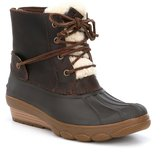 Sperry Women's Saltwater Wedge Tide Faux Fur Cold Weather Duck Boots