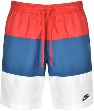 Nike Novelty Logo Swim Shorts Red