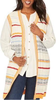 Foxcroft Nico Stripe Sweater Vest