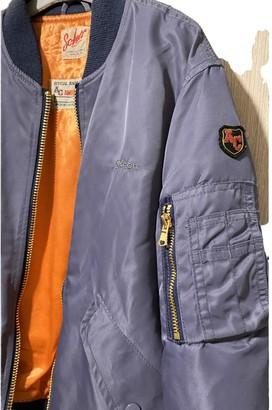 Schott Blue Leather Jacket for Women