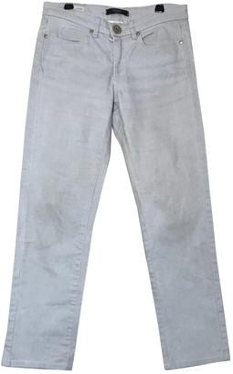 Max Mara Weekend Silver Cotton - elasthane Jeans for Women