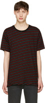 Rag & Bone Black & Red Stripe T-Shirt
