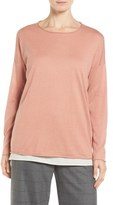 Eileen Fisher Tencel ® & Organic Cotton Blend Sweater