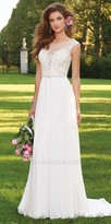 Camille La Vie Caviar Beaded Cap Sleeve Wedding Dress