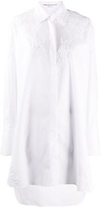 Ermanno Scervino Lace-Panel Shirt Dress