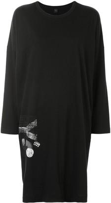 Y's Embellished-Logo Shift Dress