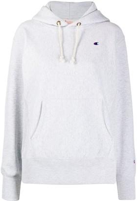 Champion Logo-Patch Hooded Sweatshirt