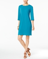 NY Collection Petite Scalloped Sheath Dress