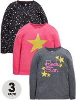 Very Girls Star Long Sleeve T-Shirts (3 Pack)