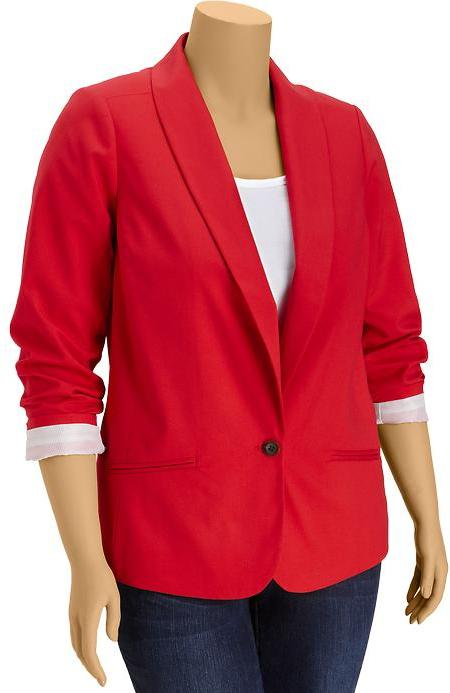 Old Navy Women's Plus Button-Front Blazers