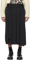 Yohji Yamamoto Black Wrapped Skirt Trousers
