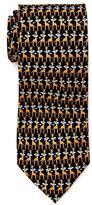 Pierre Cardin Mini Giraffe In Clouds Print Silk Tie