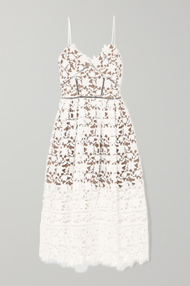 Self-Portrait Azaelea Guipure Lace Dress - Ivory