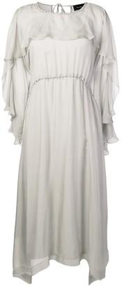 Irina Schrotter Ruffle Midi Dress