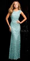 Scala Illusion Side Scooped Back Prom Dress