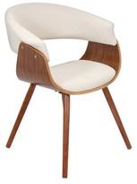 Lumisource Vintage Mod Dining Chair Wood/Beige