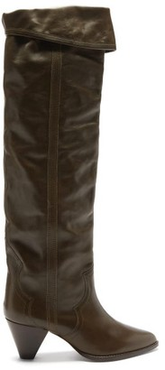Isabel Marant Remko Leather Over-the-knee Boots - Dark Brown
