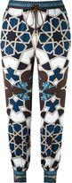 Versace geometric print track pants - women - Polyester/Viscose - 38