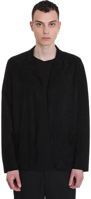Salvatore Santoro Blazer In Black Leather