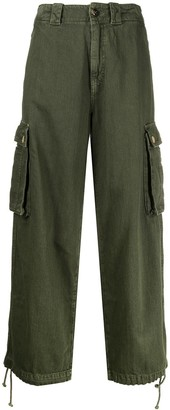 Semi-Couture Cropped Cargo Trousers