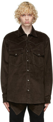 Youths in Balaclava Brown Corduroy Shirt