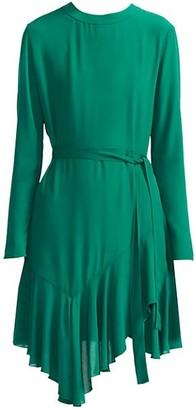 Maje Romea A-Line Handkerchief Dress