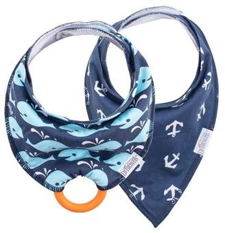 Dr Browns Dr. Brown's Bandana Bib 2pk with Removable Silicone Teether