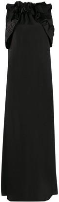 P.A.R.O.S.H. Pleated-Ruffle Sleeveless Gown