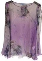 Blumarine Purple Silk Top for Women