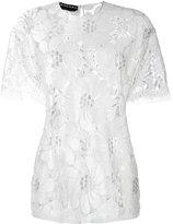 Rochas sheer lace T-shirt - women - Lurex/Polyamide/Rayon - 38