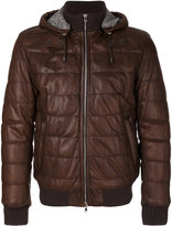 Barba padded bomber jacket