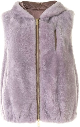 Brunello Cucinelli Cashmere Reversible Hooded Gilet