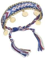 INC International Concepts I.N.C. Gold-Tone Multicolor Braided Friendship Bracelet, Created for Macy's