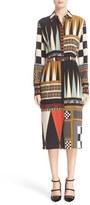 Etro Backgammon Print Silk Shirtdress