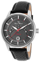 Lucien Piccard 10154-01 Men's Sorrento Black Genuine Leather and Dial