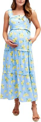 Nom Maternity Emma Maternity/Nursing Midi Sundress