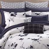 Vera Wang Vera WangTM Ink Wash Floral King Duvet Cover in Ink