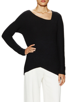Derek Lam Cashmere Asymmetrical Ribbed Sweater