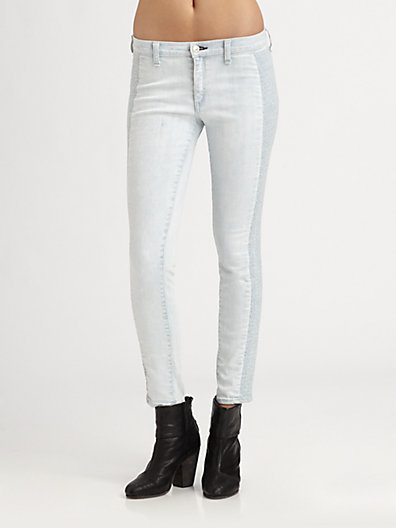 Rag and Bone Embroidered Skinny Jeans